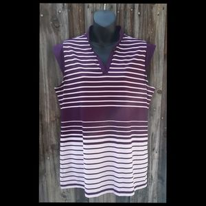 Coral Bay Golf Striped Top